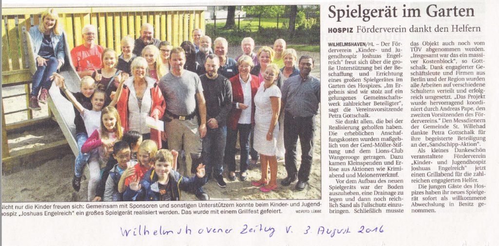 Wilhelmshavener-Zeitung---August-2016---Spielgerät-im-Garten